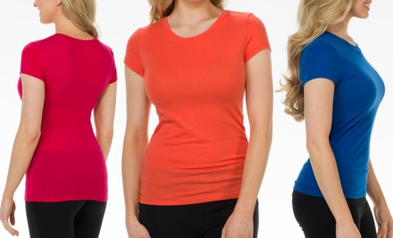 12-Pack of Women's Crew-Neck Tees in Assorted Colors