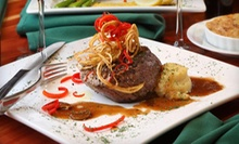 Steakhouse Cuisine for Dinner or Lunch or Sunday Brunch at Delaney's Steakhouse (Half Off)