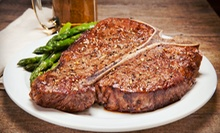 $55 for a Six-Course Steak-House Dinner for Two with a Bottle of Wine at Gamaroff's Bar & Grill (Up to $115.85 Value)