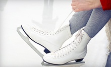 Public Ice-Skating Sessions or Beginner Lessons at Center Ice Arena (Up to 58% Off). Four Options Available.