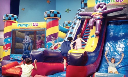 $14 for Four Pop-In Playtimes or Family Jump Time Passes at Pump It Up (Up to $28 Value)
