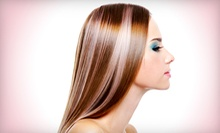 Women's Haircut and Scalp Treatment with Option for Partial Colour at Sweet Temptation Salon &amp; Spa (Up to 62% Off)