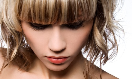 Haircut and Blow-Dry with Optional Partial or Full Highlights at           Santana Salon & Spa (Up to 51% Off)