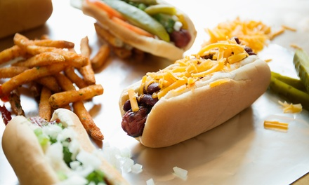 Gourmet Hot-Dog Meals from New York Dawg Pound (38% Off). Two Options Available.