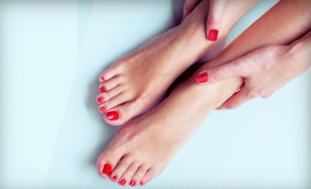 Herbal Spa Organic Pedicure or Shellac Manicure with Deluxe Pedicure at Nails by Roth (Up to 51% Off)