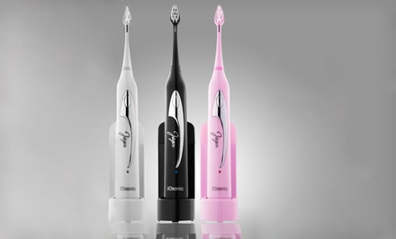 Jäger iOsonic Toothbrush with UV Sanitizer in Black, Pearl White, or Pink