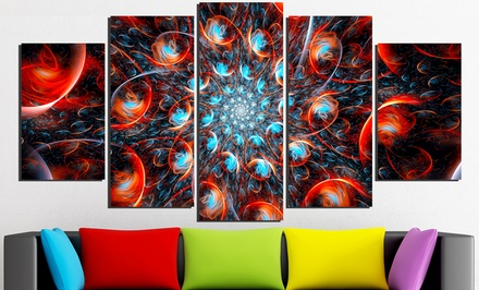 Gallery Wrapped Giclée Fractal Abstract Prints on Canvas