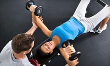 16 Group Fitness Classes or 4 or 8 Personal-Training Sessions with Nutritional Counseling at A.R.E.A. 44 (Up to 88% Off)