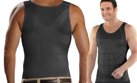 Insta Trim Men's Compression and Body-Support Undershirt