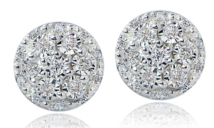 1/4 CTTW Miracle-Set Diamond Cluster Earrings