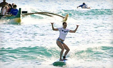 Group Surf Lesson and Outrigger-Canoe Ride for One, Two, or Four from Big Wave Dave Surf Co. (Up to 51% Off)