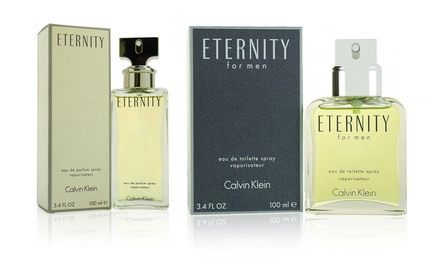 Calvin Klein Eternity Eau de Toilette for Men or Eau de Parfum for Women; 3.4 Fl. Oz.