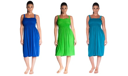 Women's Smocked Midi Dresses