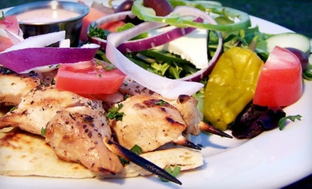 Greek Dinner and Drinks at Mythos Greek Taverna (Up to 53% Off). Two Options Available.