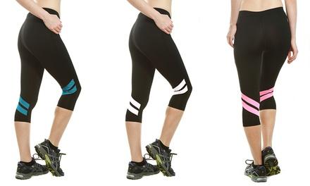 3-Pack of Women's Double-Stripe Active Capris