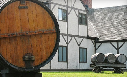 Wine Tasting for 2 or 4 with a Cellar Tour, Cheese of the Day, and Take-Home Glasses (Up to 52% Off)