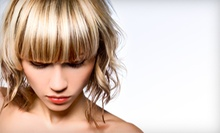 Haircut, Style, and Glass of Wine with Optional Partial or Full Highlights at The Loft Salon (Up to 66% Off)