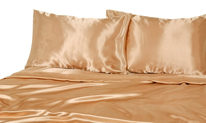 Luxury Satin 4-Piece Sheet Sets Deal of the Day | Groupon