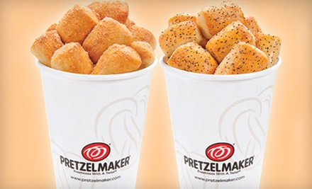 $17 for Five Groupons, Each Good for $7 Worth of Gourmet Soft Pretzels at Pretzelmaker ($35 Total Value)