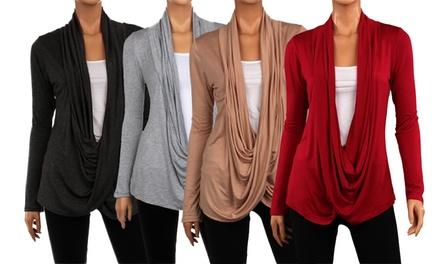 3-Pack of Women's Draped Crisscross Cardigans