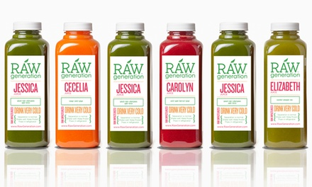 Juice Cleanses from Raw Generation (Up to 50% Off). Four Options Available.