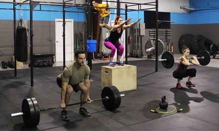 One or Three Months of Unlimited CrossFit Classes at CrossFit Push Box (Up to 51% Off)