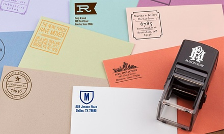 Personalized Self-Inking Stamper with Additional Color Cartridge or Three Designs from Mason Row (Up to 50% Off)