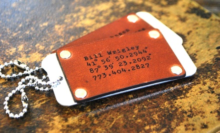 One, Two, or Four Leather-and-Aluminum Luggage Tags from LilyDeal (Up to 64% Off)