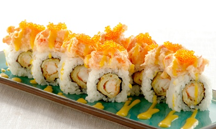 $15 for $25 or $29 for $50 Worth of Sushi, Japanese Cuisine, and Sake at Sushi Blvd