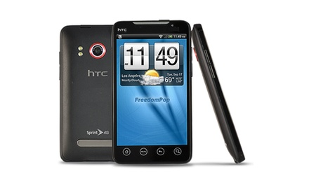 groupon daily deal - FreedomPop Free Mobile Phone Service with HTC EVO 4G Phone (Refurbished). Free Returns.