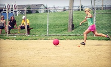 Registration for a Kickball or Sand-Volleyball League from Sports Monster (Up to 51% Off). Three Options Available.