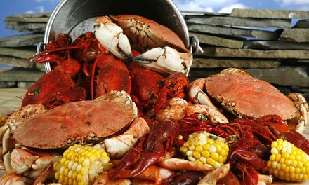 Crab and Shellfish Boil for Two or Four with Drinks at Blue Water Seafood and Crab (Up to 48% Off)