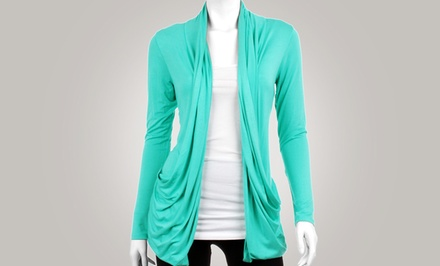 Women's Draped Summer Cardigan with Pockets