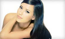 Haircut with All-Over Color or Partial Foils, or a Brazilian Blowout at VanStrand Hair Salon (Up to 55% Off)
