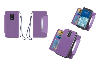 Wallet with Removable Case for Samsung Galaxy Note 4, S4, or S5