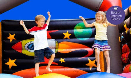 $16 for 4 All-Day Play Passes, 4 Sodas, and 4 Bags of Chips at Bounce House (Up to $56 Value)
