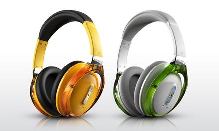 MiiKey Rhythm NFC Wireless Bluetooth Headphones in White or Yellow