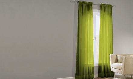 Basic Elegance Voile Panel Pair