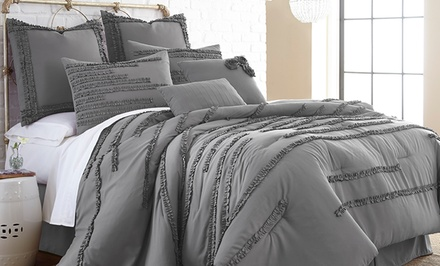 8-Piece Ruffle Embellished Comforter Set