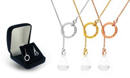 Um ou dois colares personalizados em forma de gravata com cristal na ponta desde 14,99€