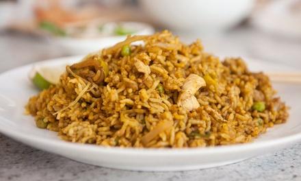 Thai Cuisine at Thai Thai Restaurant (45% Off). Two Options Available.