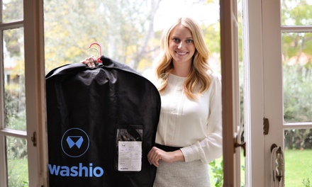 Dry Cleaning and Laundry Delivery Service from Washio (80% Off). Two Options Available.