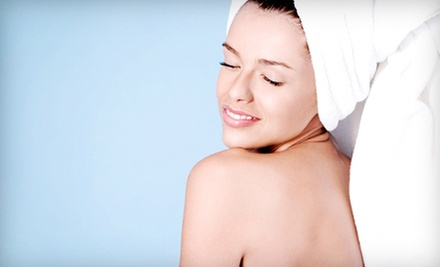 $99 for a Spa Package with Body Scrub, Haircut, Mani-Pedi, and Makeup Application at The Secret Spa &amp; Salon ($240 Value)