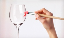 Wine-Glass-Painting Class for Two or Four Plus Complimentary Wine at American Visions Art Gallery (Up to 55% Off)