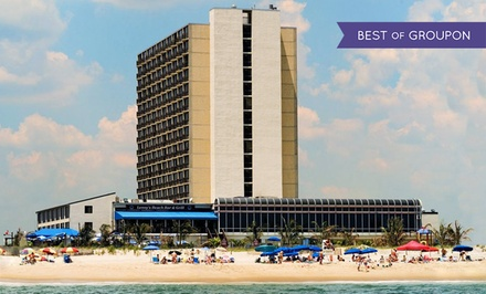 groupon daily deal - Stay with Dining Credit at Clarion Resort Fontainebleau Hotel in Ocean City, MD. Dates into May.
