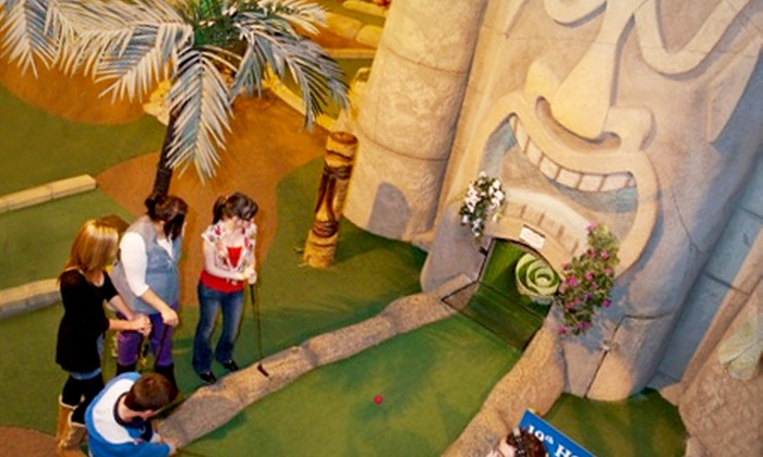 Paradise Island Adventure Golf @ Xscape - Glasgow: Paradise Island Adventure Golf: 18 Holes For Two (£6) or Four (£10) (Up to 60% Off)