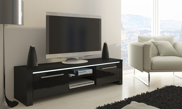 meuble tv avec ou sans led orlando groupon shopping. Black Bedroom Furniture Sets. Home Design Ideas