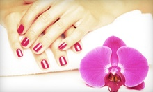 One or Three Shellac Manicures with Regular Pedicures from Jessica Briggs at Mia Bella Salon (Up to 55% Off)