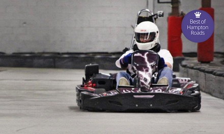 Adult or Junior Go-Kart Races at American Indoor Karting (Up to 59% Off). Six Options Available.