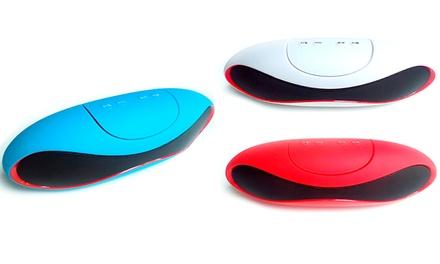 Alta voz UltraSound com bluetooth e rádio disponível em branco, vermelho ou azul por 19,90€